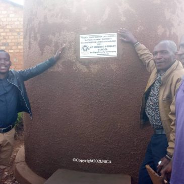 Another Rainwater Collection System Constructed at a Primary School at Lake Bunyonyi